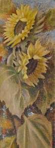 Oljemålning av Matti Alenius, blommor