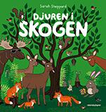 """Omslagsbild till boken """"Djuren i skogen""""."""