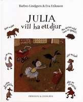 Omslagsbild till Julia vill ha ett djur.