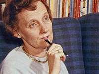 Astrid Lindgren omking 1960. Bildkälla: Wikimedia Commons
