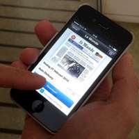 Appen Pressdirekt på en smarttelefon.