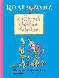 Omslagsbild till Kalle och chokladfabriken.