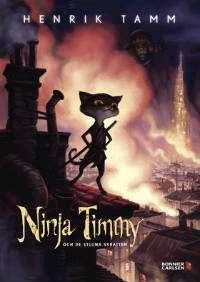 Omslagsbild till Ninja Timmy och de stulna skratten.