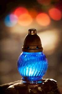 En blå ljuslykta. Foto: Thomas Karlsson.