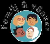 Bild med texten Familj o vänner