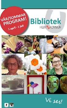 Programblad för Bibliotek Heby kommun april - juni 2016