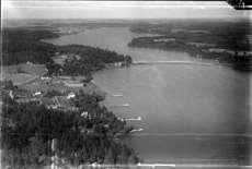 Flygfoto över Ekolsund vid Mälaren 1936.