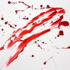 Blodstänk.