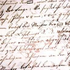 Papper med gammal med text i gammal handstil.