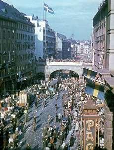Kungsgatan i Stockholm 1945