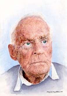 Margareta Hagelthorns porträtt av Åke Ginman.