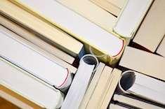 Ett antal böcker uppifrån