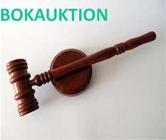 Auktionsklubba med ordet Bokauktion