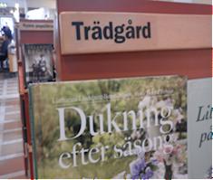 Boktopp på Stadsbiblioteket i Uppsala.