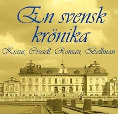 Bild på slott med tillhörande text En svensk krönika
