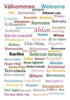Välkommen på många språk