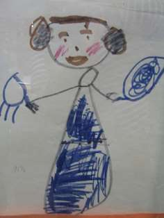 Tecknad Star wars prinsessa