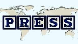 Världskarta med ordet Press