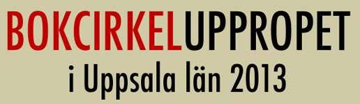 Logotyp för Bokcirkeluppropet I Uppsala län 2013.