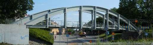 Den nya bron över Strandokilen i Uppsala.