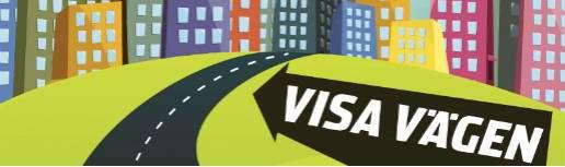 Detalj av logotyp för kampanjen Visa vägen ut på internet.