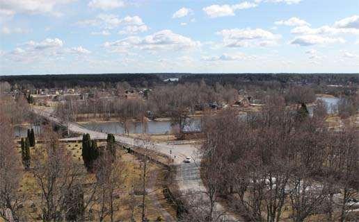 Bild av Rotskär idag. Bilden tagen från kyrktornet.