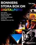 Omslagsbild till boken Bonniers stora bok om digitalfoto.