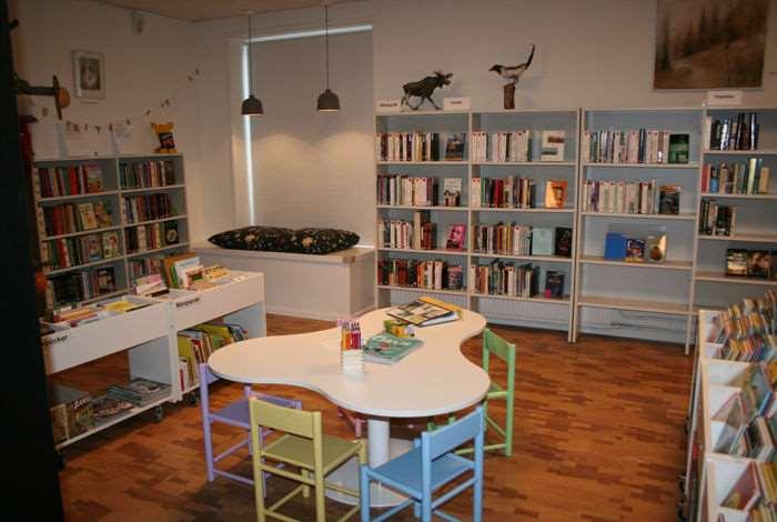 Barnhörna på bibliotek