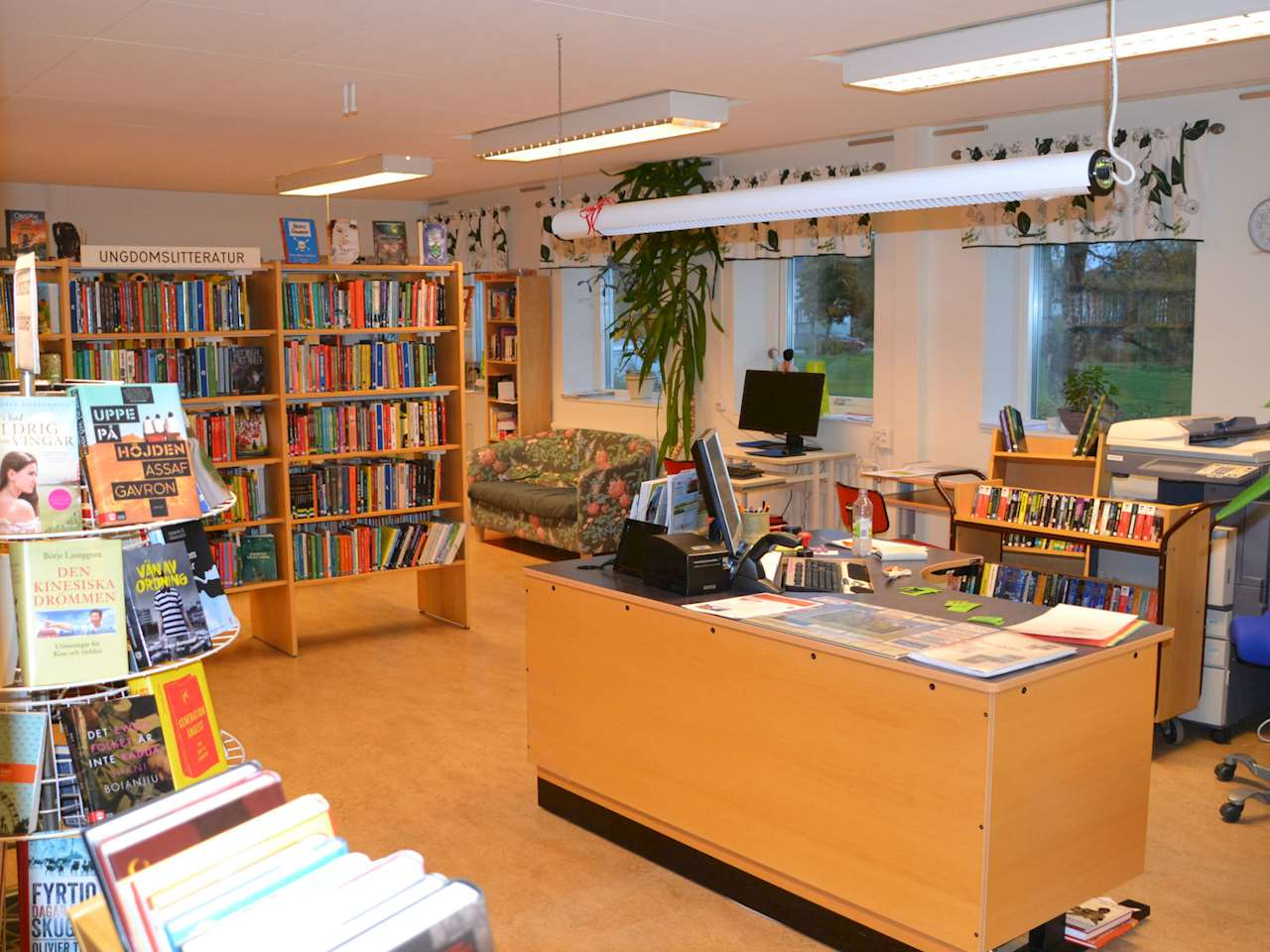 Biblioteksinteriör
