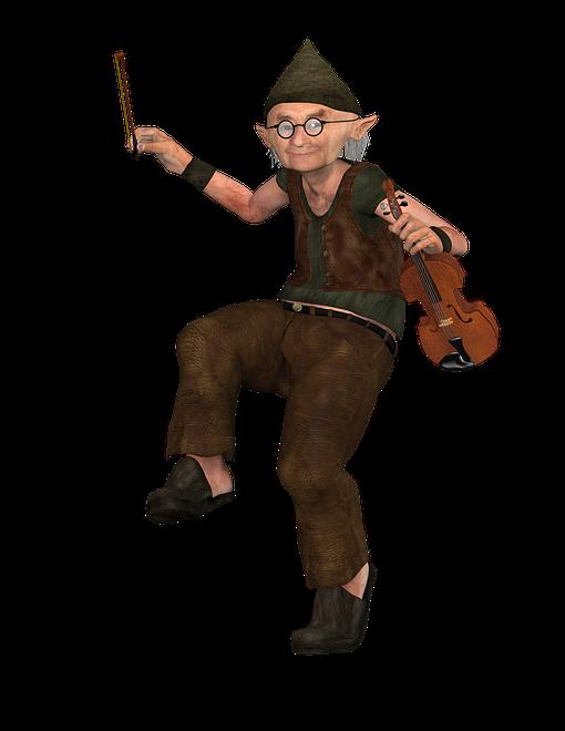 Dansande fiolspelare