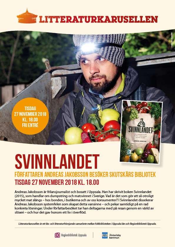 Information om författarbesök av Andreas Jakobsson 27 nov
