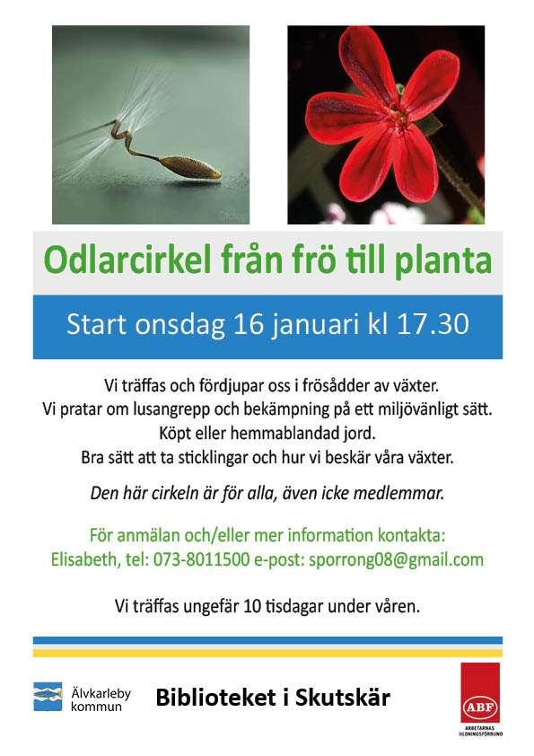 Odlarcirkel från frö till planta start onsdag 16 januari